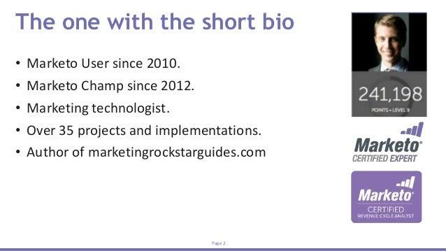 Marketo Engagements and Lead Nurturing - Advanced Slide 2