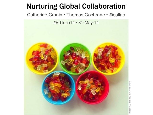 ImageCCBY-NC-SAheloukee Nurturing Global Collaboration Catherine Cronin • Thomas Cochrane • #icollab #EdTech14 • 31-May-14