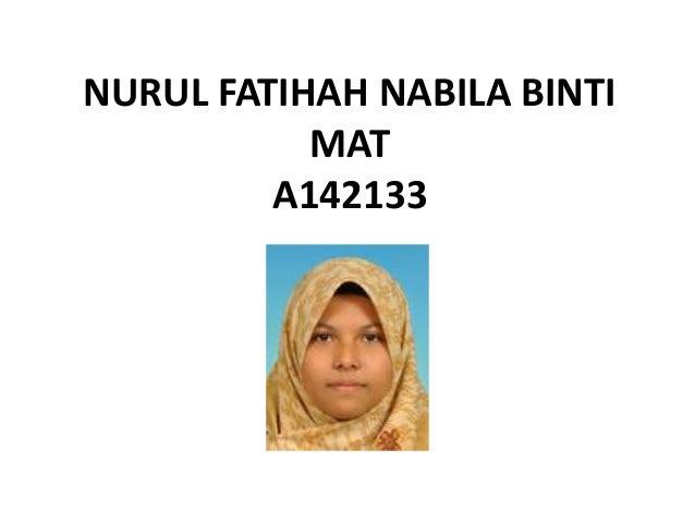 NURUL FATIHAH NABILA BINTIMATA142133