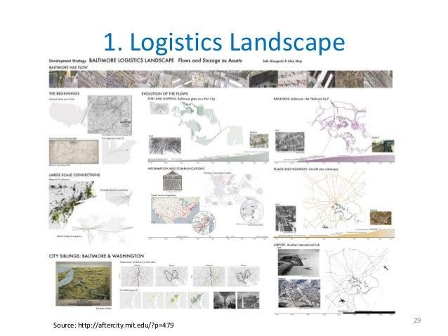 1. Logistics Landscape                                          29Source: http://aftercity.mit.edu/?p=479