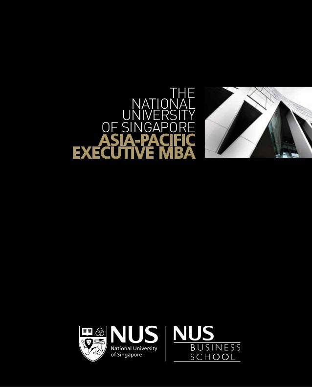 The National University of Singapore  Asia-Pacific Executive MBA