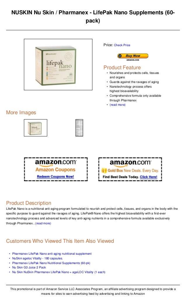 NUSKIN Nu Skin / Pharmanex - LifePak Nano Supplements (60-                               pack)                            ...