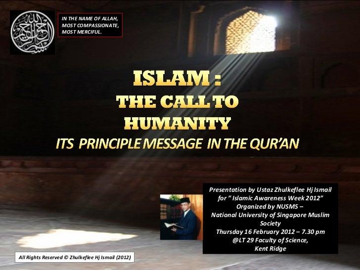 Nusms(iaw -feb-2012)call tohumanity