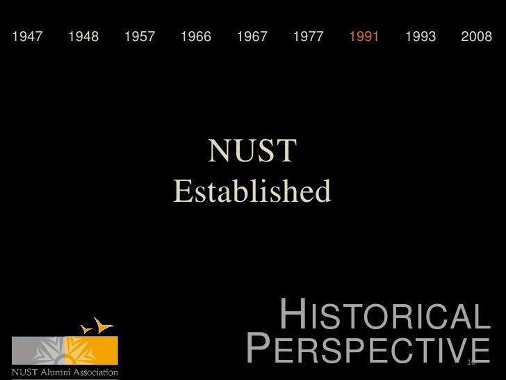 1947   1948   1957   1966   1967   1977   1991   1993   2008                       NUST                     Established   ...