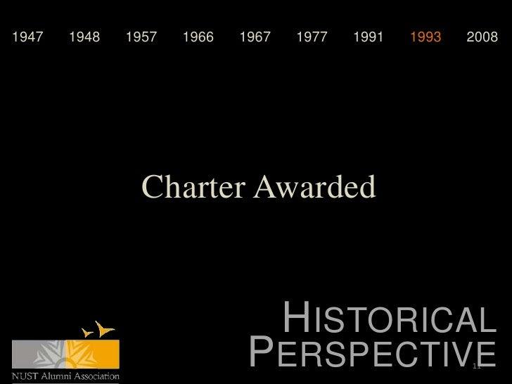 1947   1948   1957   1966   1967   1977   1991   1993   2008                Charter Awarded                               ...