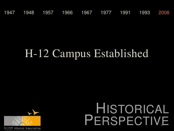 1947   1948   1957   1966   1967   1977   1991   1993   2008       H-12 Campus Established                                ...