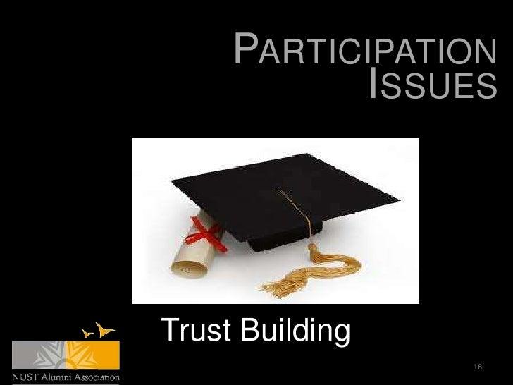 PARTICIPATION           ISSUESTrust Building                 18
