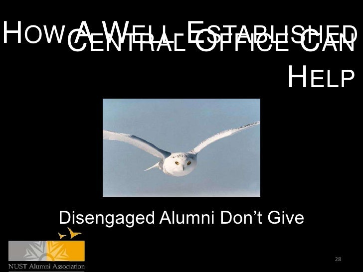 HOWCENTRAL OFFICE CAN   A WELL-ESTABLISHED                 HELP   Disengaged Alumni Don't Give                            ...
