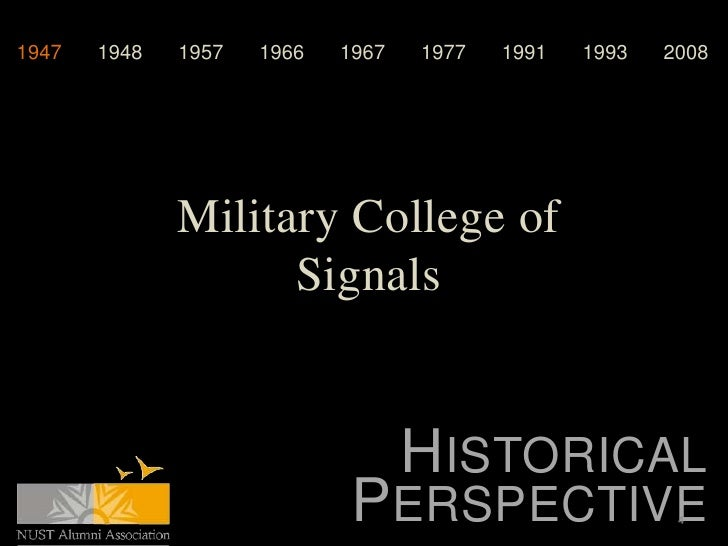 1947   1948   1957   1966   1967   1977   1991   1993   2008              Military College of                    Signals  ...