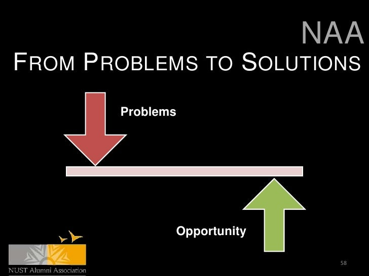 NAAFROM PROBLEMS TO SOLUTIONS        Problems               Opportunity                              58