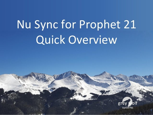 Nu Sync for Prophet 21 Quick Overview