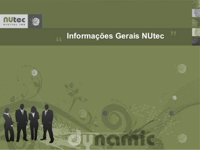 Informações Gerais NUtec