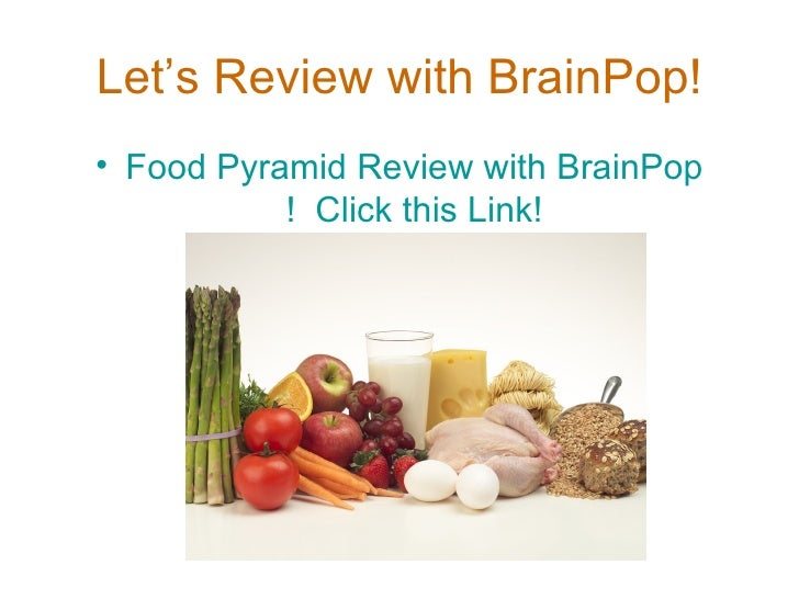 Let's Review with BrainPop! <ul><li>Food Pyramid Review with  BrainPop !  Click this Link! </li></ul>