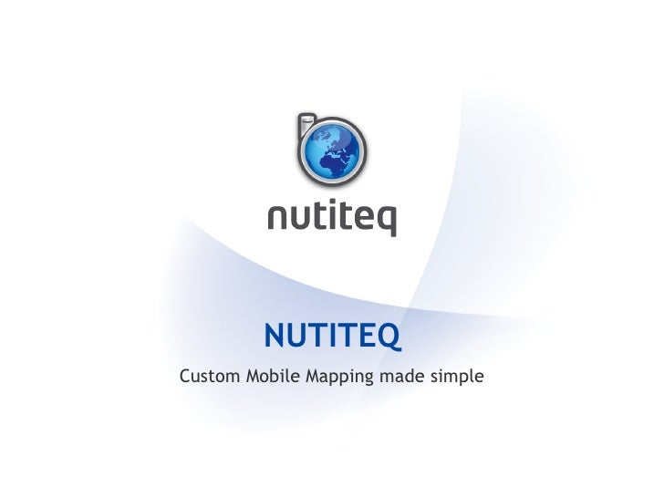 NUTITEQ Custom Mobile Mapping made simple