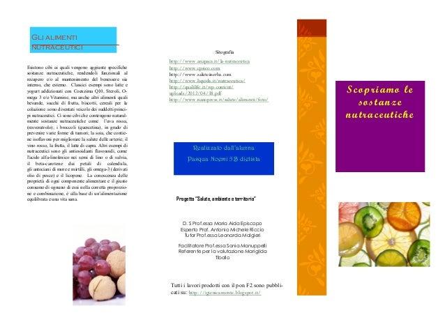 Scopriamo lesostanzenutraceuticheEsistono cibi ai quali vengono aggiunte specifichesostanze nutraceutiche, rendendoli funz...