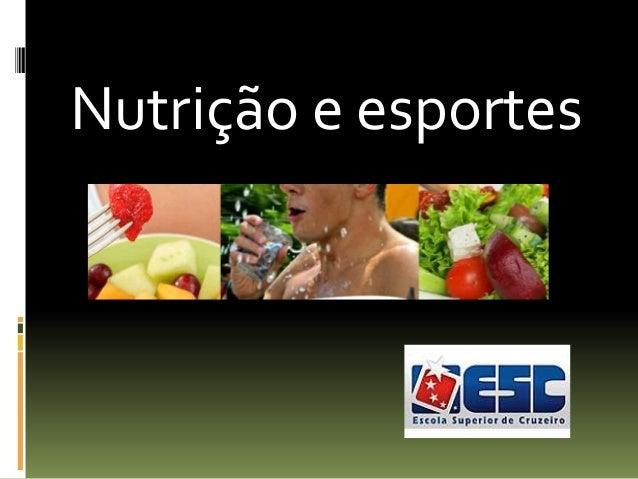 Nutrição e esportes