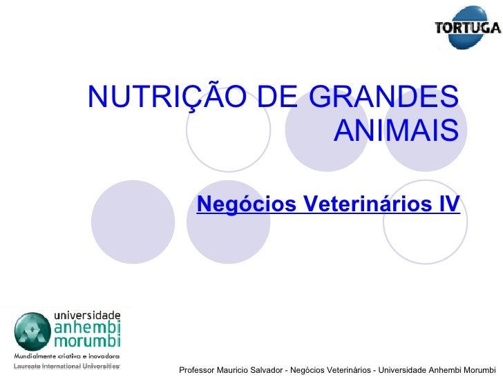 NUTRIÇÃO DE GRANDES ANIMAIS Negócios Veterinários IV