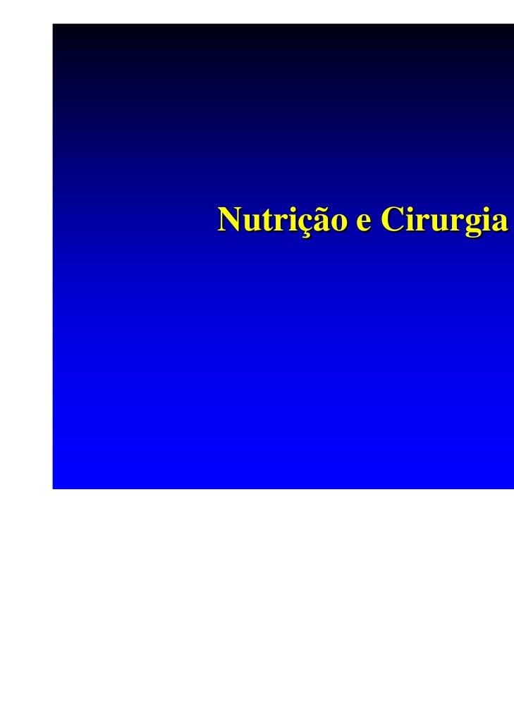 Nutrição e Cirurgia