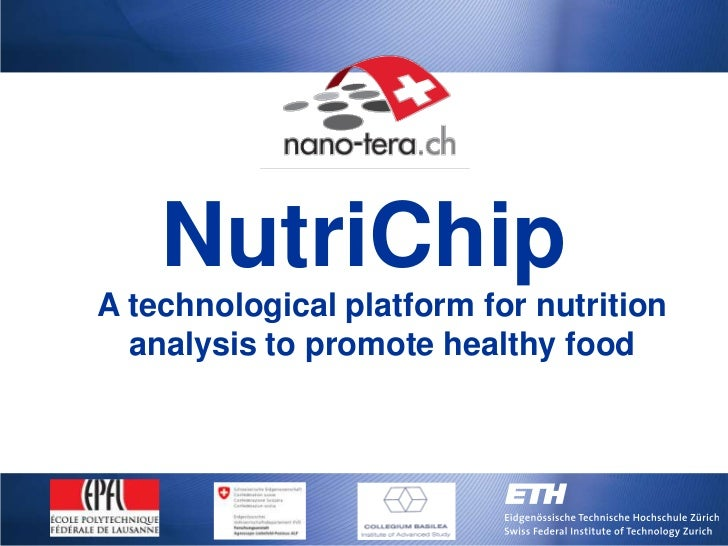 NutriChipA technological platform for nutrition  analysis to promote healthy food