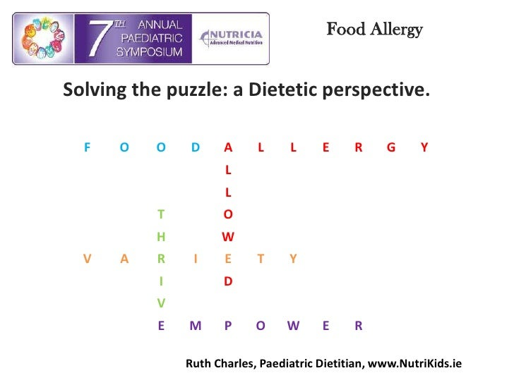 Food Allergy <br />Solving the puzzle: a Dietetic perspective.<br />Ruth Charles, Paediatric Dietitian, www.NutriKids.ie<b...