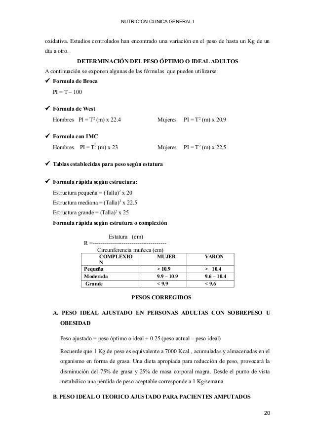 NUTRICION CLINICA GENERAL I oxidativa. Estudios controlados han encontrado una variación en el peso de hasta un Kg de un d...