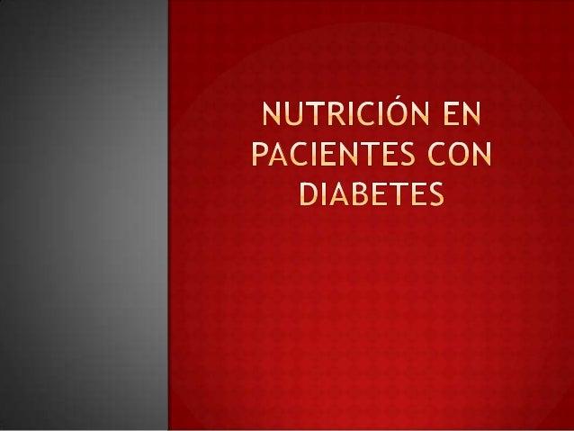 Nutrición en pacientes con diabetes