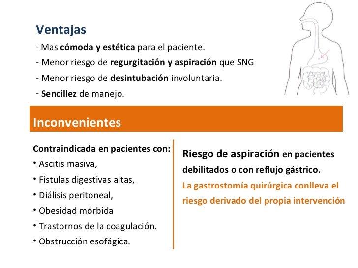 <ul><li>Ventajas </li></ul><ul><li>Mas  cómoda y estética  para el paciente.  </li></ul><ul><li>Menor riesgo de  regurgita...