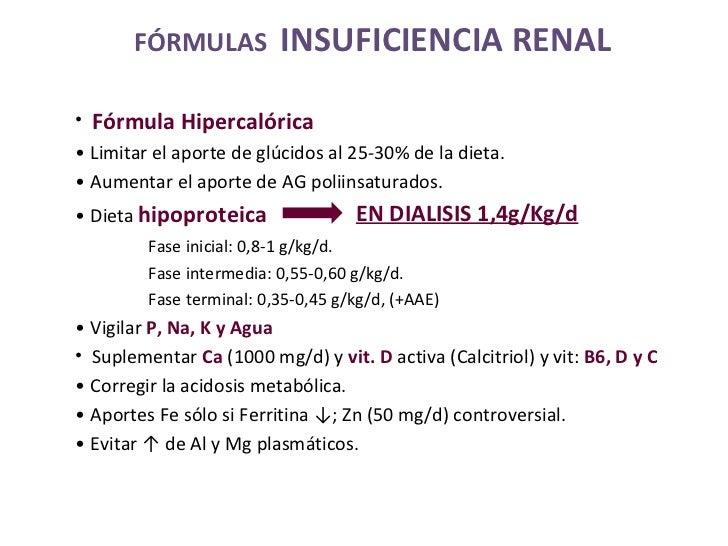 <ul><li>Fórmula Hipercalórica </li></ul><ul><li>•  Limitar el aporte de glúcidos al 25-30% de la dieta. </li></ul><ul><li>...