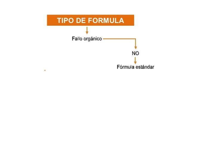 TIPO DE FORMULA