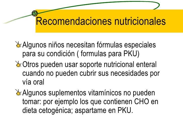 NutricióN NiñOs Y Preadolescentes. Condiciones Especiales