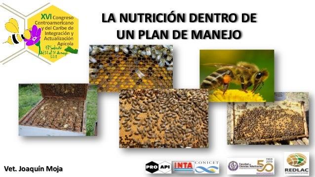 LA NUTRICIÓN DENTRO DE UN PLAN DE MANEJO Vet. Joaquín Moja