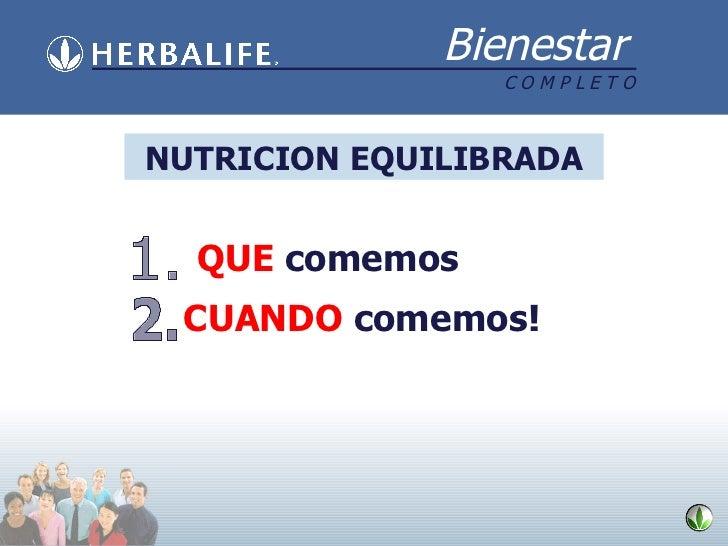 NUTRICION EQUILIBRADA 1. QUE   comemos 2. CUANDO   comemos!