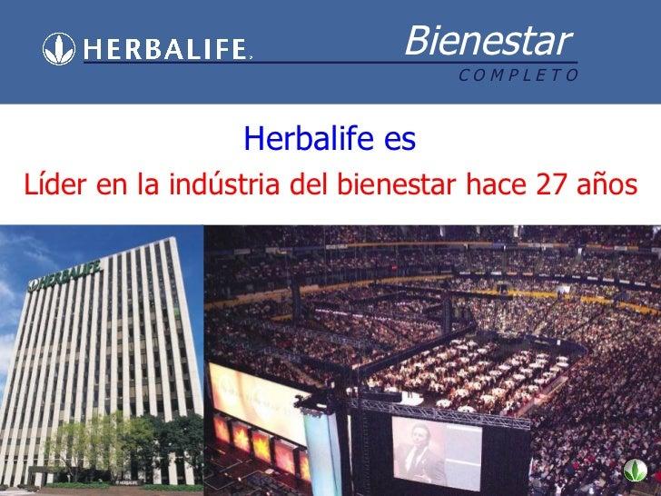 Herbalife es Líder en la indústria del bienestar hace 27 años