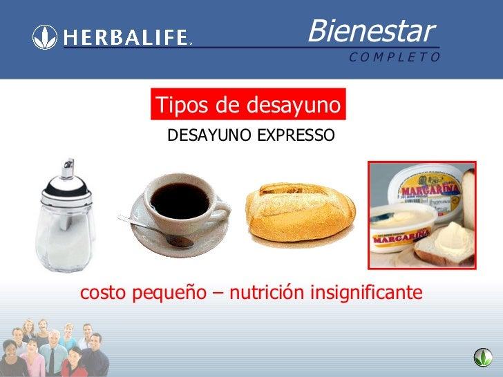 DESAYUNO EXPRESSO costo pequeño – nutrición insignificante Tipos de desayuno