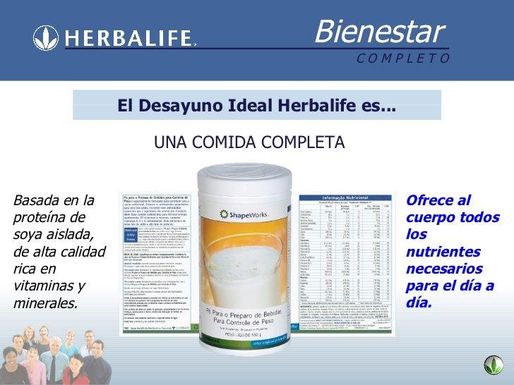 UNA COMIDA COMPLETA Basada en la proteína de soya aislada, de alta calidad rica en vitaminas y minerales. Ofrece al cuerpo...