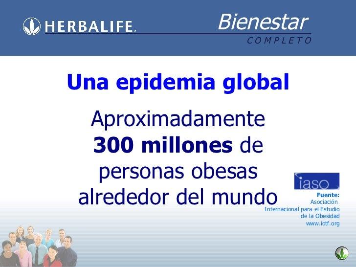 Aproximadamente  300 millones  de personas obesas alrededor del mundo Una epidemia global Fuente: Asociación  Internaciona...
