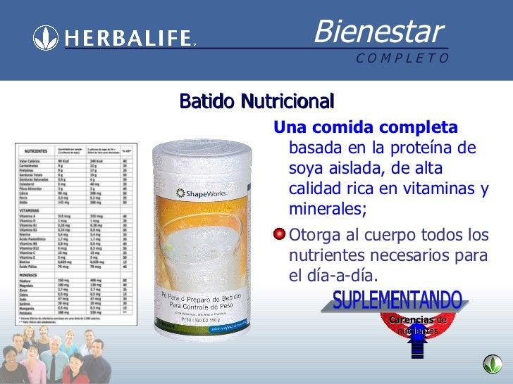 <ul><li>Una comida completa  basada en la proteína de soya aislada, de alta calidad rica en vitaminas y minerales; </li></...