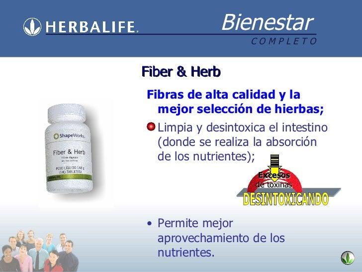 Fiber & Herb <ul><li>Fibras de alta calidad y la mejor selección de hierbas; </li></ul><ul><li>Limpia y desintoxica el int...