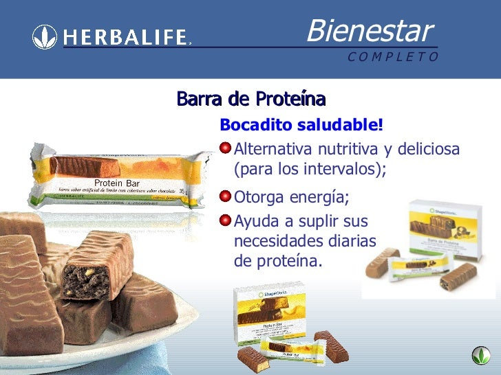 Barra de Proteína <ul><li>Bocadito saludable! </li></ul><ul><li>Alternativa nutritiva y deliciosa (para los intervalos); <...