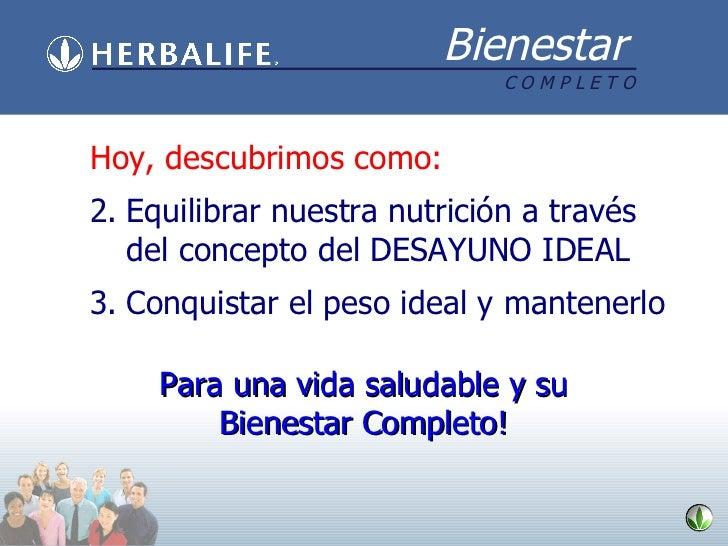 <ul><li>Hoy, descubrimos como: </li></ul><ul><li>Equilibrar nuestra nutrición a través del concepto del DESAYUNO IDEAL </l...