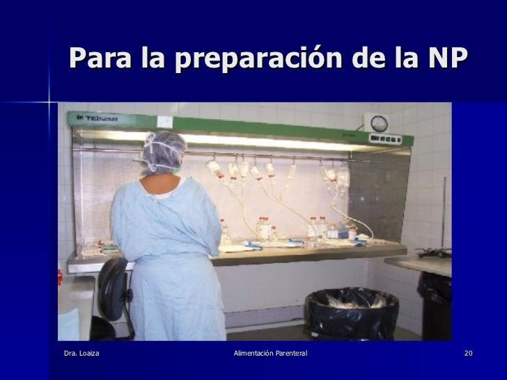 Para la preparación de la NP