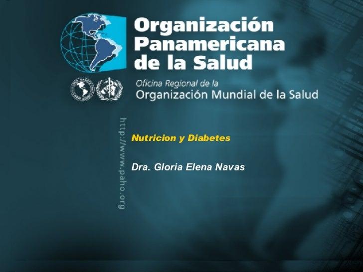 Nutricion Y Diabetes Oms
