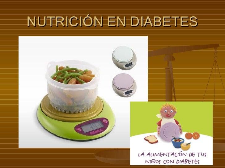 Nutricion en diabetes