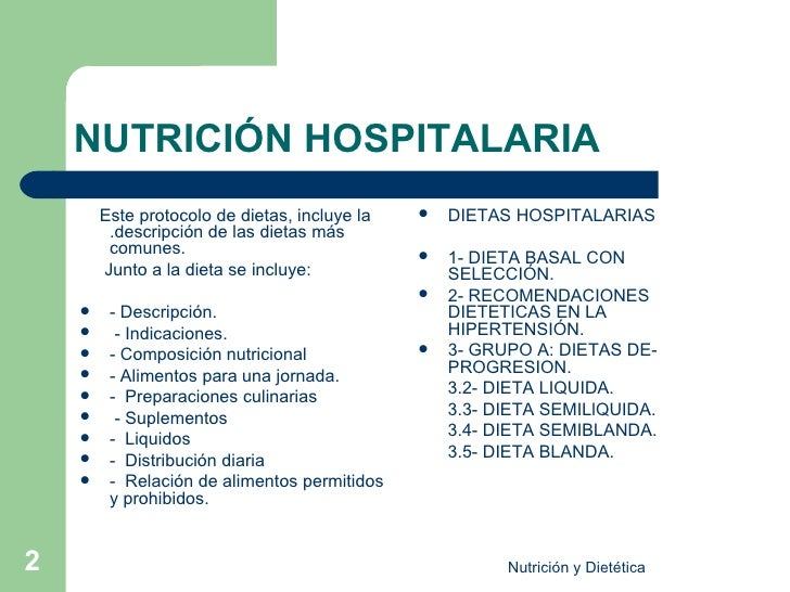 Nutricionhospitalaria - Alimentos de una dieta blanda ...