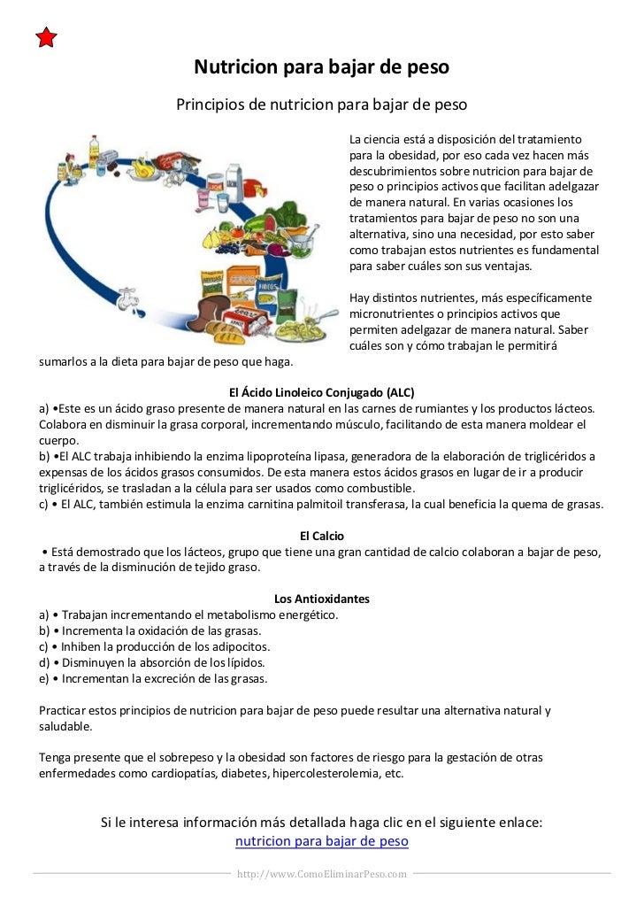 Nutricion para bajar de peso                          Principios de nutricion para bajar de peso                          ...