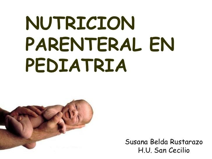 Nutricion parenteral en prematuros pdf