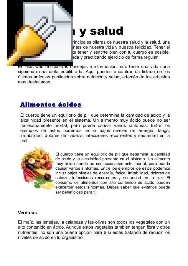 Nutrición y salud  La nutrición es uno de los principales pilares de nuestra salud y la salud, una  de los factores más im...