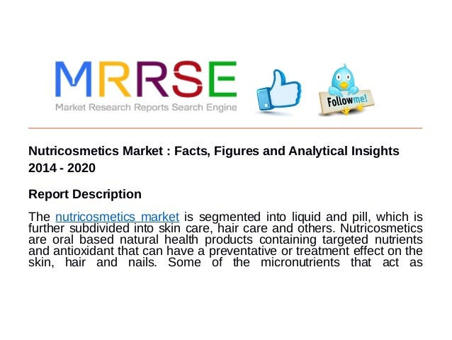 Nutricosmetics Market : Facts, Figures and Analytical Insights 2014 - 2020 Report Description The nutricosmetics market is...