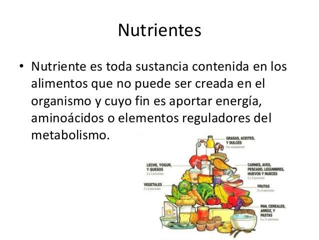 Nutrientes - Alimentos que bajen la tension ...