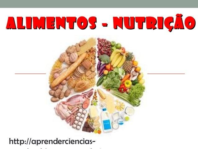 ALIMENTOS - NUTRIÇÃOALIMENTOS - NUTRIÇÃO http://aprenderciencias-